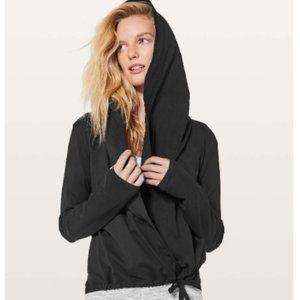 Lululemon Ready To Rulu Black Hood Cardigan Wrap